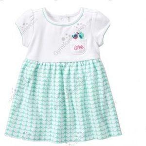 Gymboree baby girl love you tweetie dress 6-12